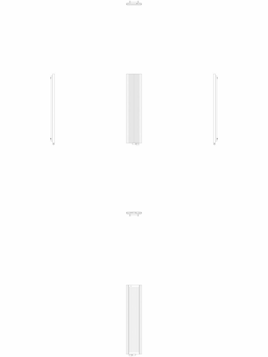 Pagina 1 - CAD-DWG Calorifer decorativ ALU-ZEN 2000x450 - 2D VASCO Detaliu de produs