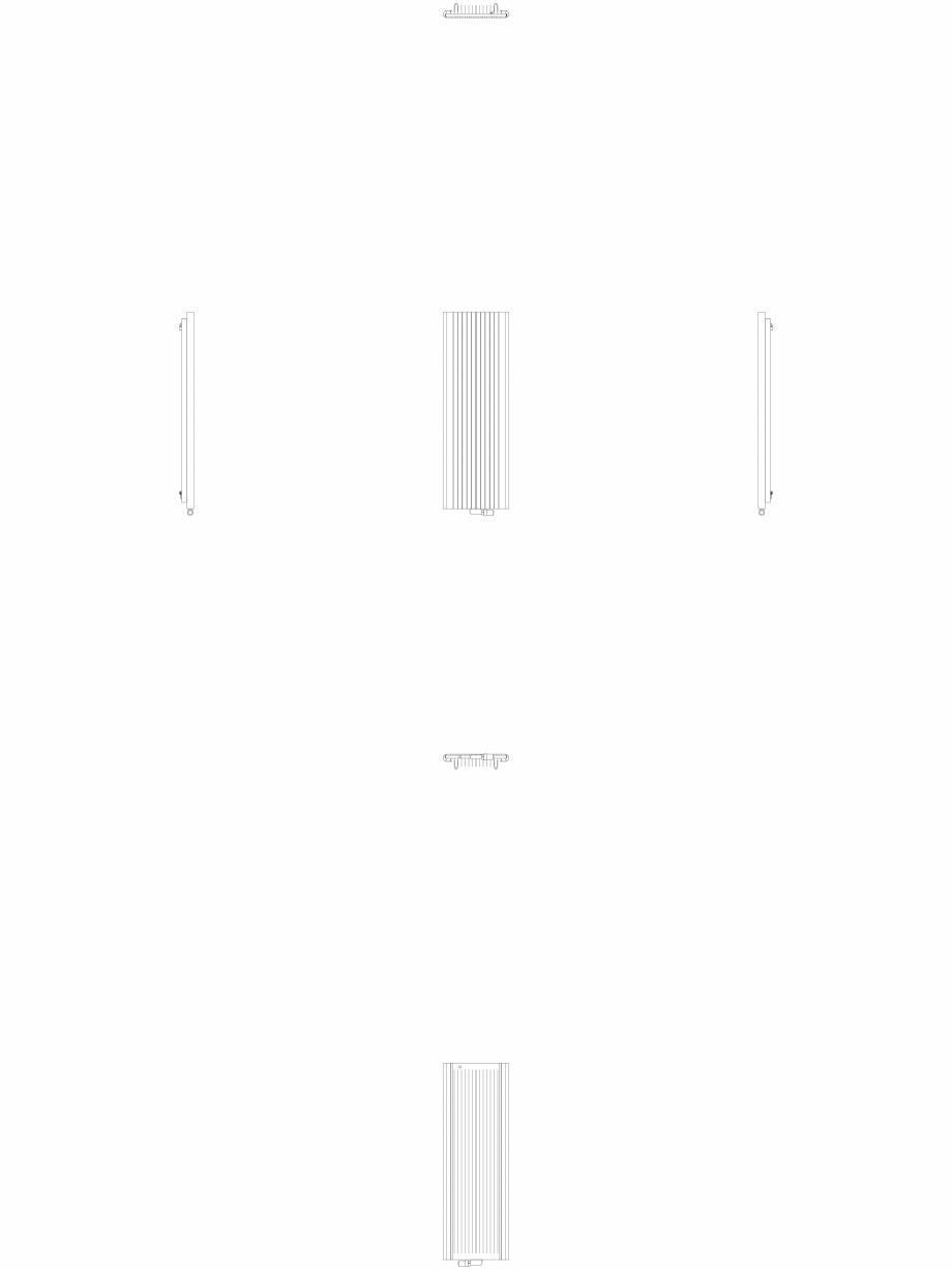 Pagina 1 - CAD-DWG Calorifer decorativ ALU-ZEN 1600x525 - 2D VASCO Detaliu de produs
