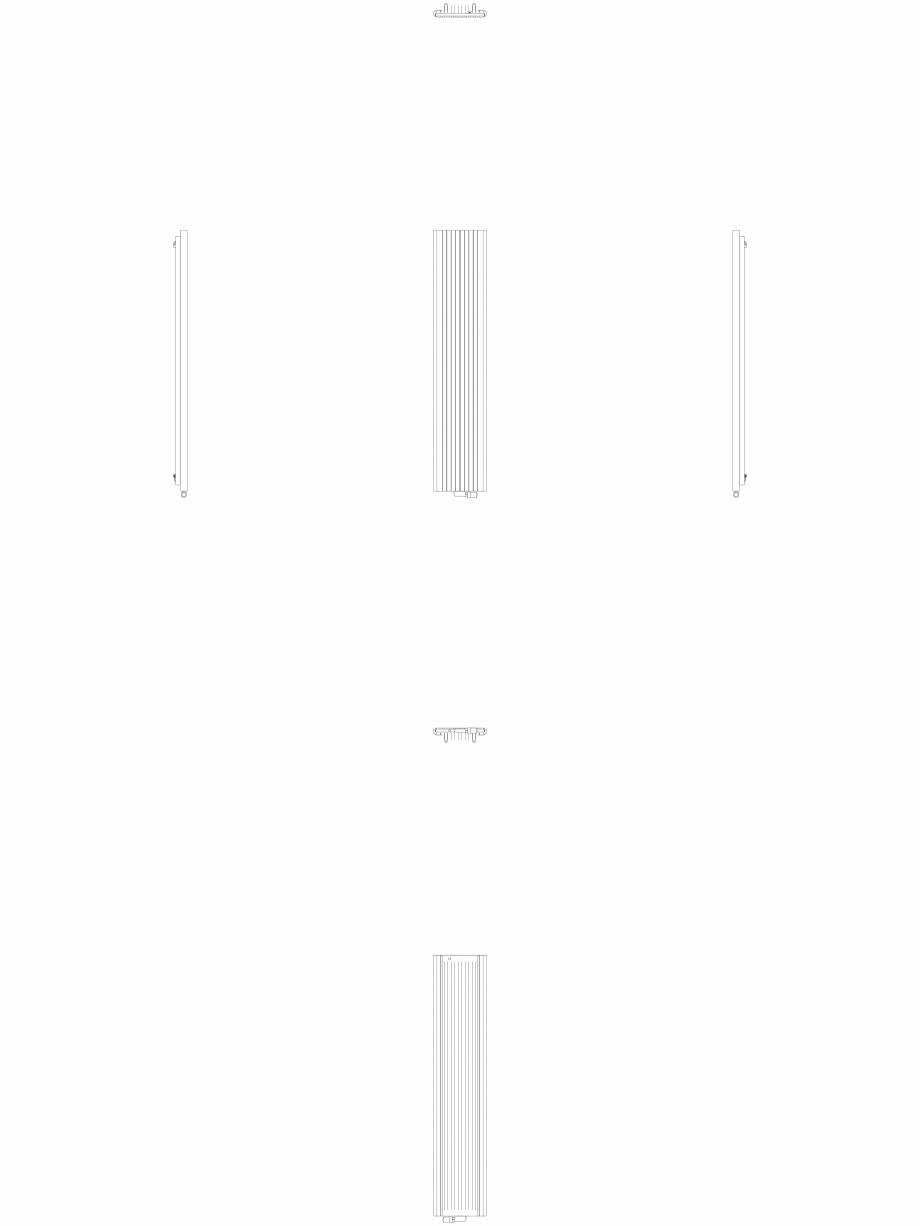 Pagina 1 - CAD-DWG Calorifer decorativ ALU-ZEN 2200x450 - 2D VASCO Detaliu de produs