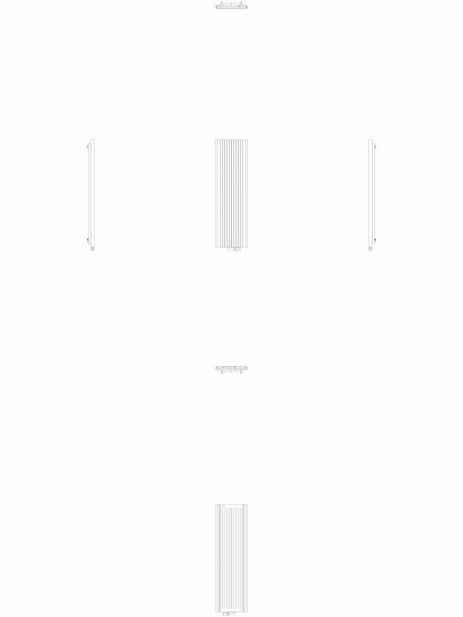 Pagina 1 - CAD-DWG Calorifer decorativ ALU-ZEN 1800x525 - 2D VASCO Detaliu de produs