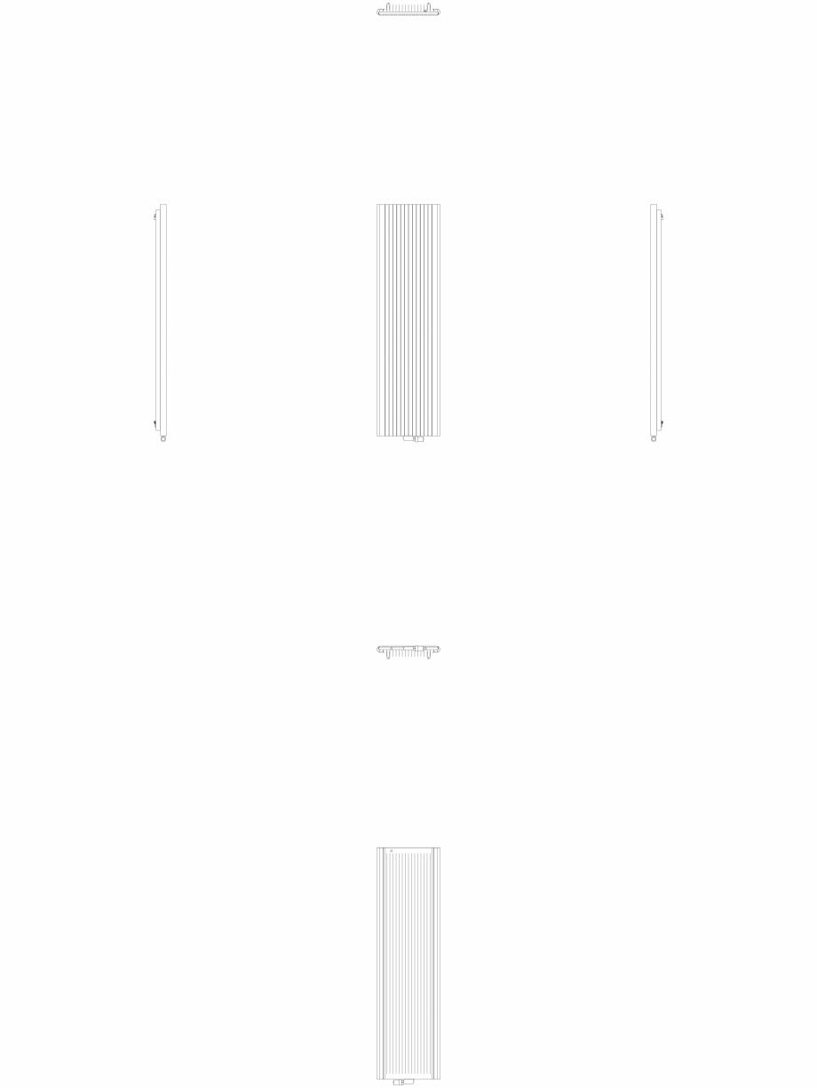 Pagina 1 - CAD-DWG Calorifer decorativ ALU-ZEN 2200x600 - 2D VASCO Detaliu de produs