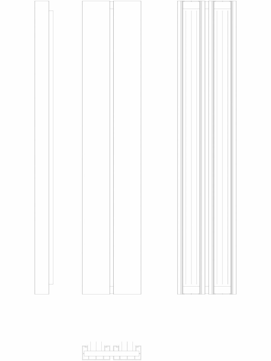 Pagina 1 - CAD-DWG Calorifer decorativ BEAMS 1600x320 - 2D VASCO Detaliu de produs