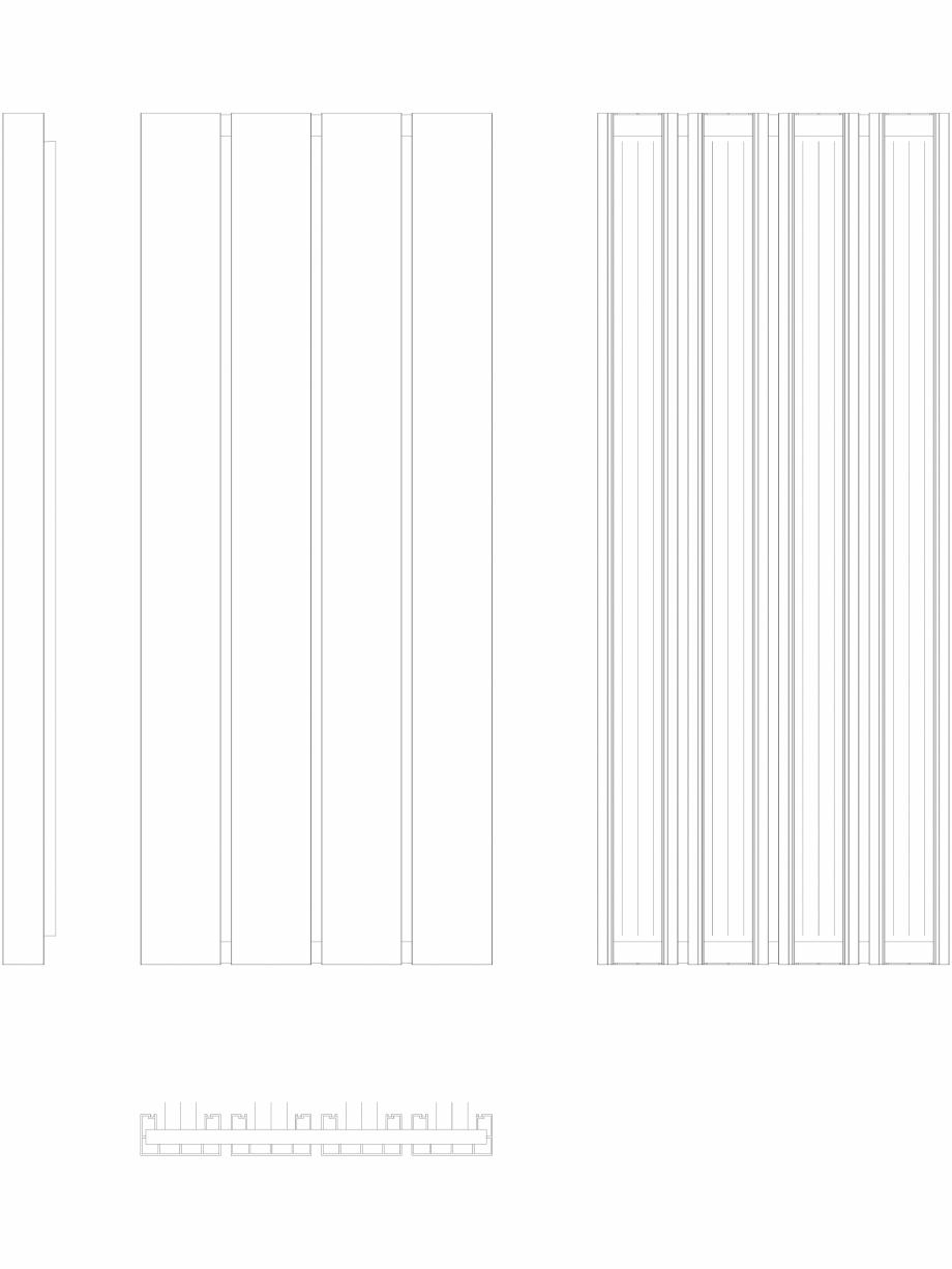 Pagina 1 - CAD-DWG Calorifer decorativ BEAMS 1600x660 - 2D VASCO Detaliu de produs