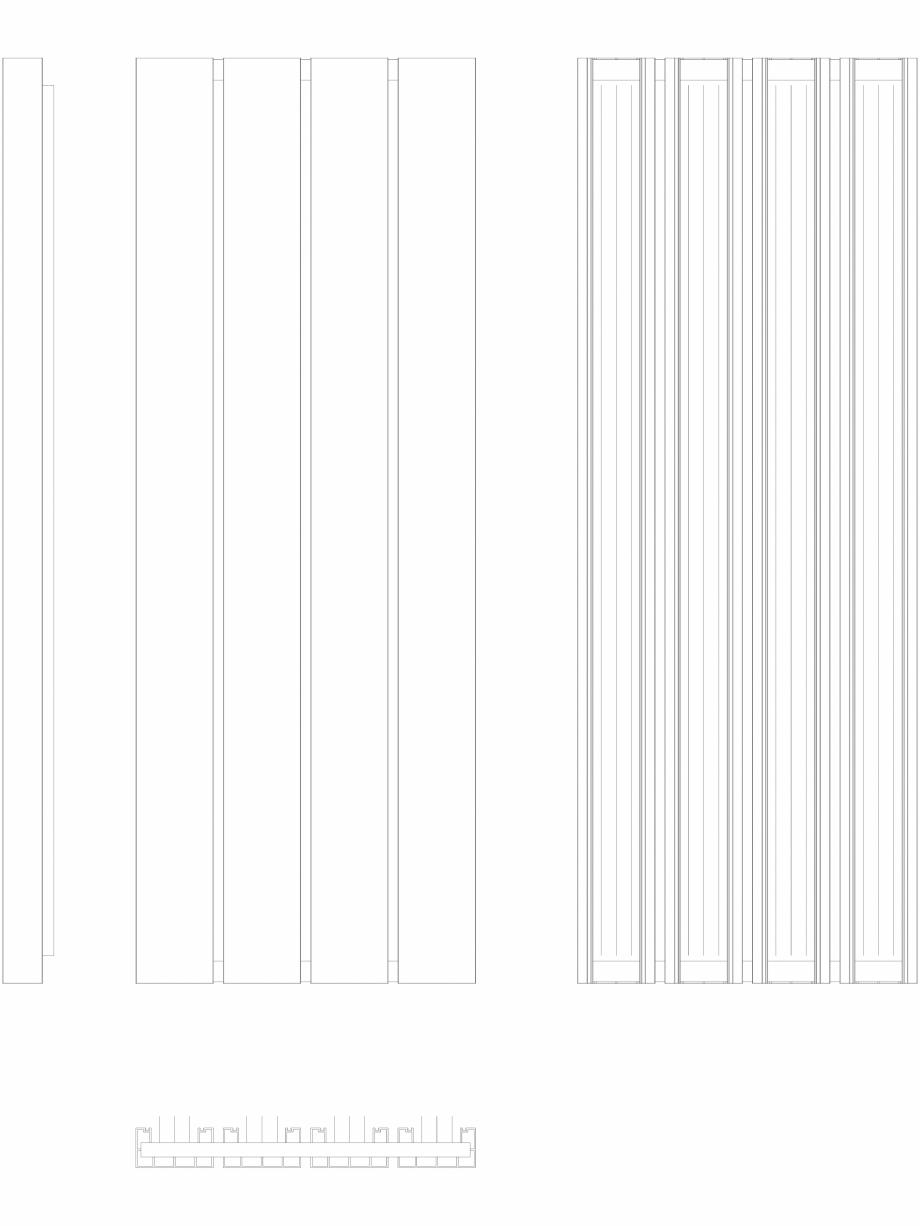 Pagina 1 - CAD-DWG Calorifer decorativ BEAMS 1800x660 - 2D VASCO Detaliu de produs