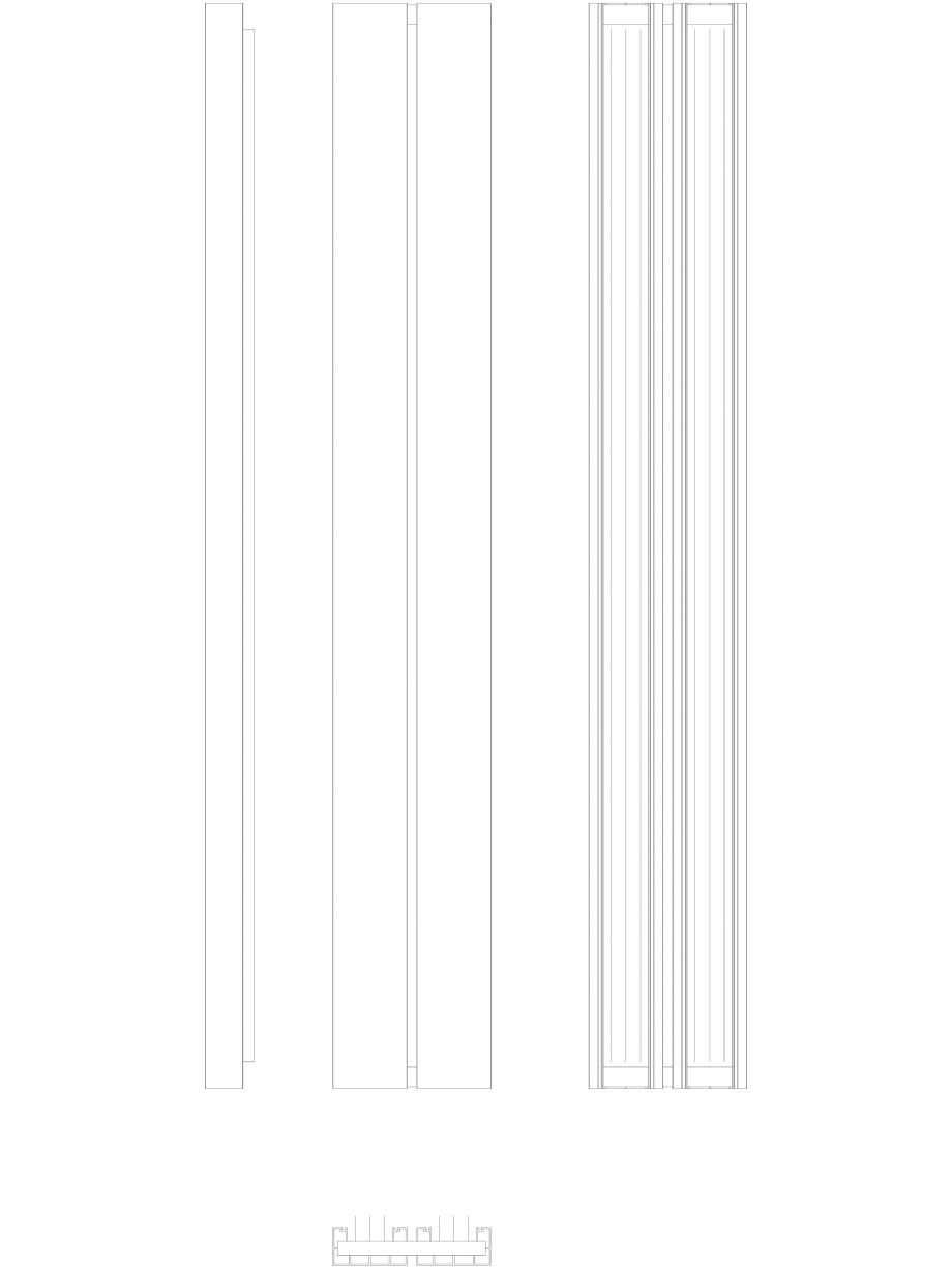 Pagina 1 - CAD-DWG Calorifer decorativ BEAMS 2200x320 - 2D VASCO Detaliu de produs