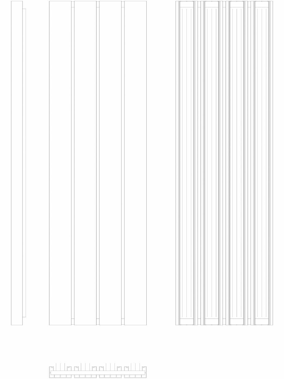 Pagina 1 - CAD-DWG Calorifer decorativ BEAMS 2200x660 - 2D VASCO Detaliu de produs