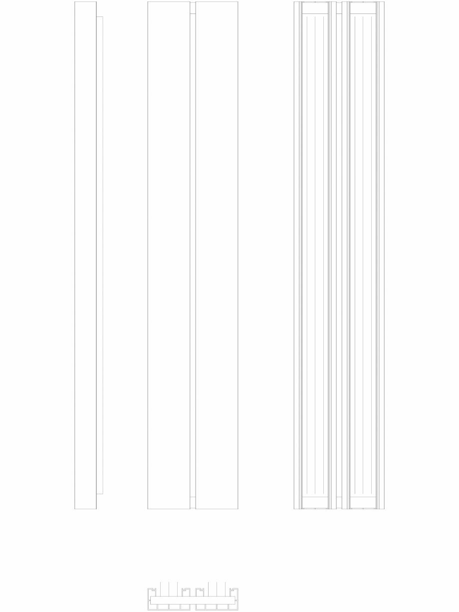 Pagina 1 - CAD-DWG Calorifer decorativ BEAMS 1800x320 - 2D VASCO Detaliu de produs
