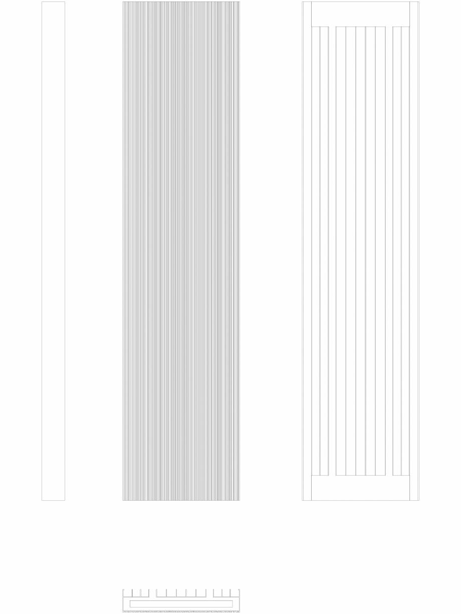 Pagina 1 - CAD-DWG Calorifer decorativ BRYCE PLUS 1600x375 - 2D VASCO Detaliu de produs BRYCE...