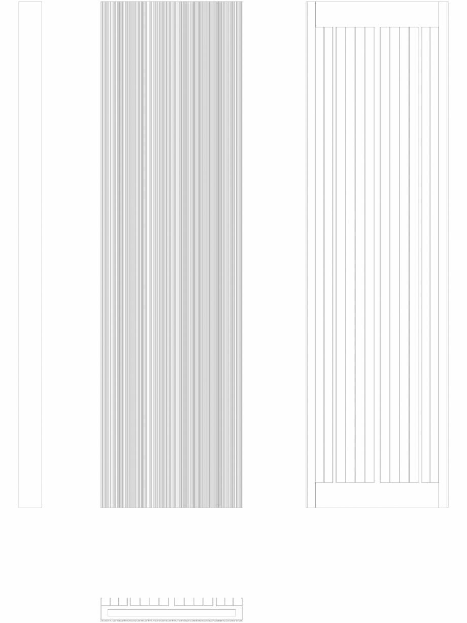 Pagina 1 - CAD-DWG Calorifer decorativ BRYCE PLUS 1600x450 - 2D VASCO Detaliu de produs BRYCE...