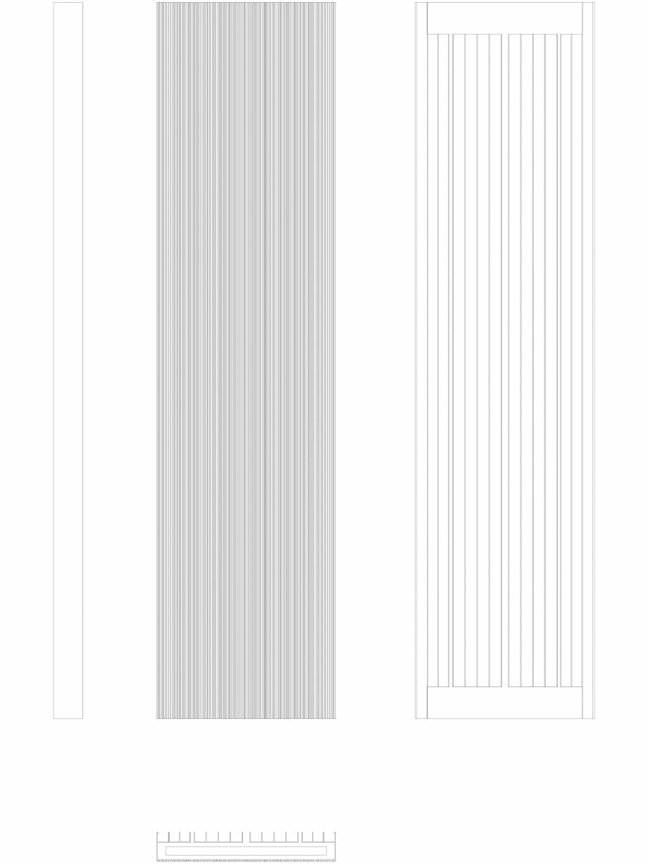 Pagina 1 - CAD-DWG Calorifer decorativ BRYCE PLUS 1800x450 - 2D VASCO Detaliu de produs BRYCE...