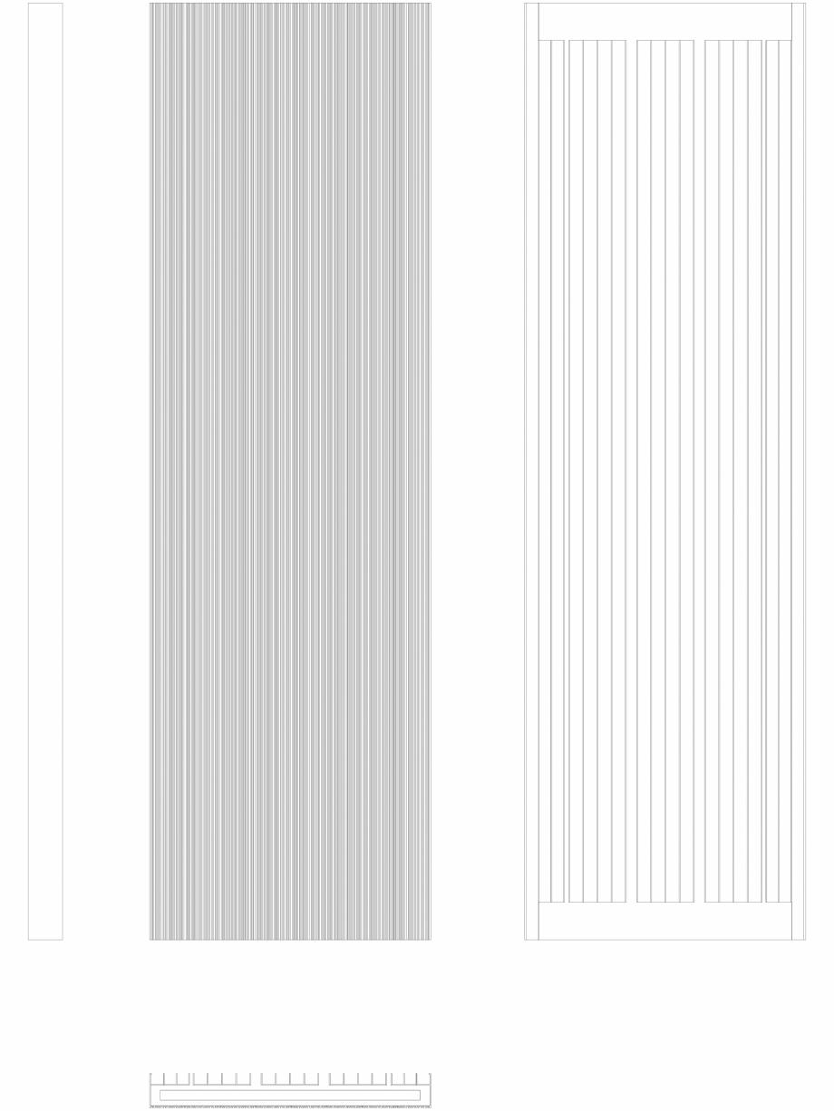 Pagina 1 - CAD-DWG Calorifer decorativ BRYCE PLUS 2000x600 - 2D VASCO Detaliu de produs BRYCE...