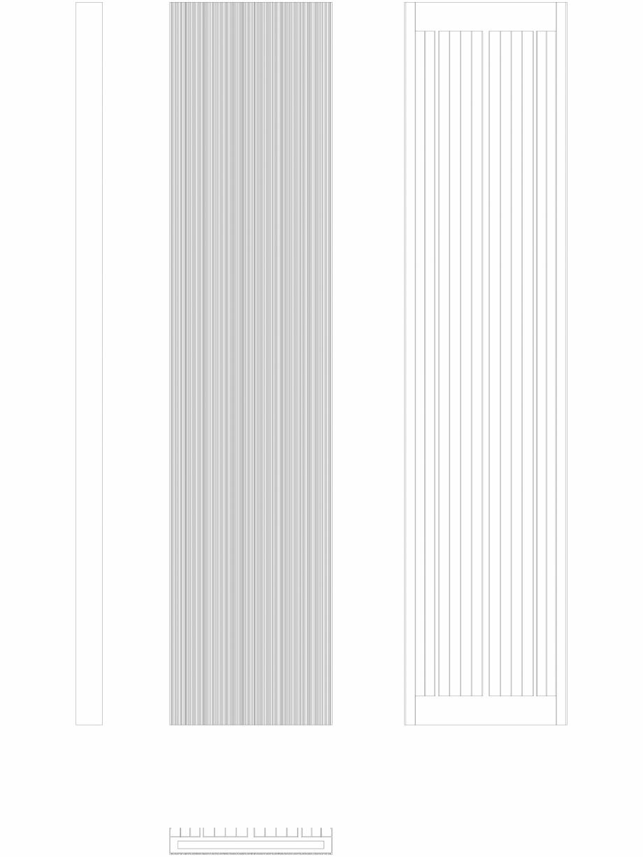 Pagina 1 - CAD-DWG Calorifer decorativ BRYCE PLUS 2000x450 -  2D VASCO Detaliu de produs BRYCE...