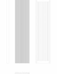 Calorifer decorativ BRYCE PLUS 2000x450 -  2D