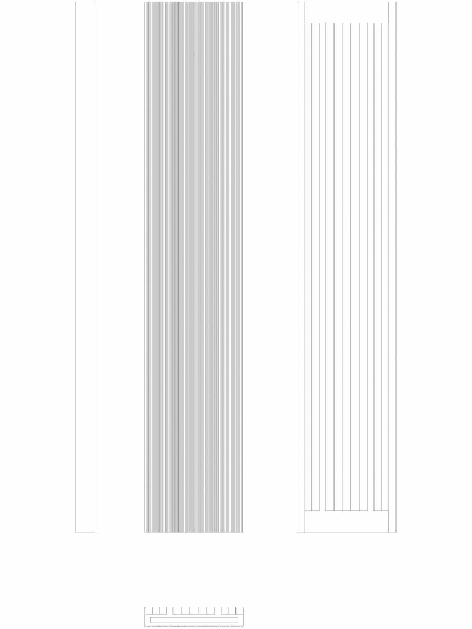 Pagina 1 - CAD-DWG Calorifer decorativ BRYCE PLUS 2000x375 - 2D VASCO Detaliu de produs BRYCE...