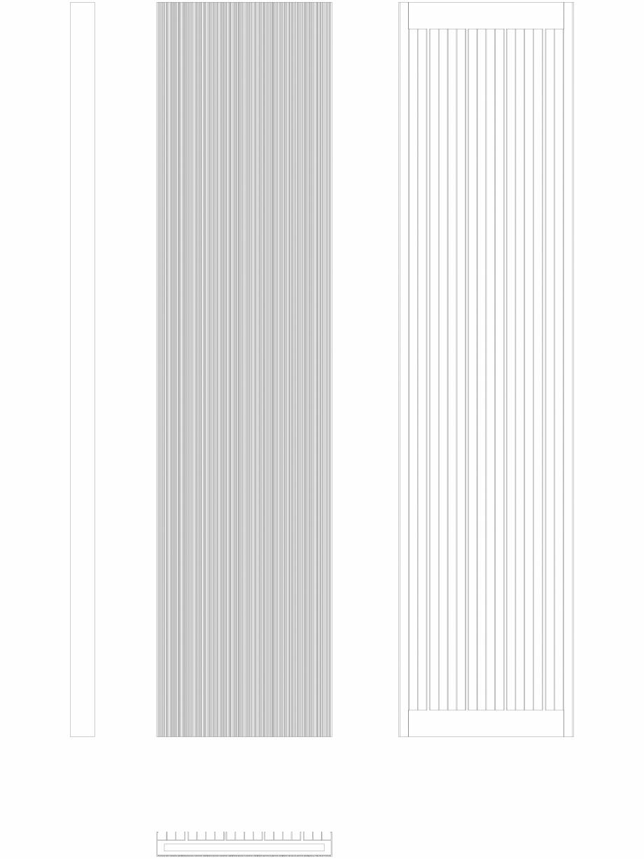 Pagina 1 - CAD-DWG Calorifer decorativ BRYCE PLUS 2200x525 - 2D VASCO Detaliu de produs BRYCE...