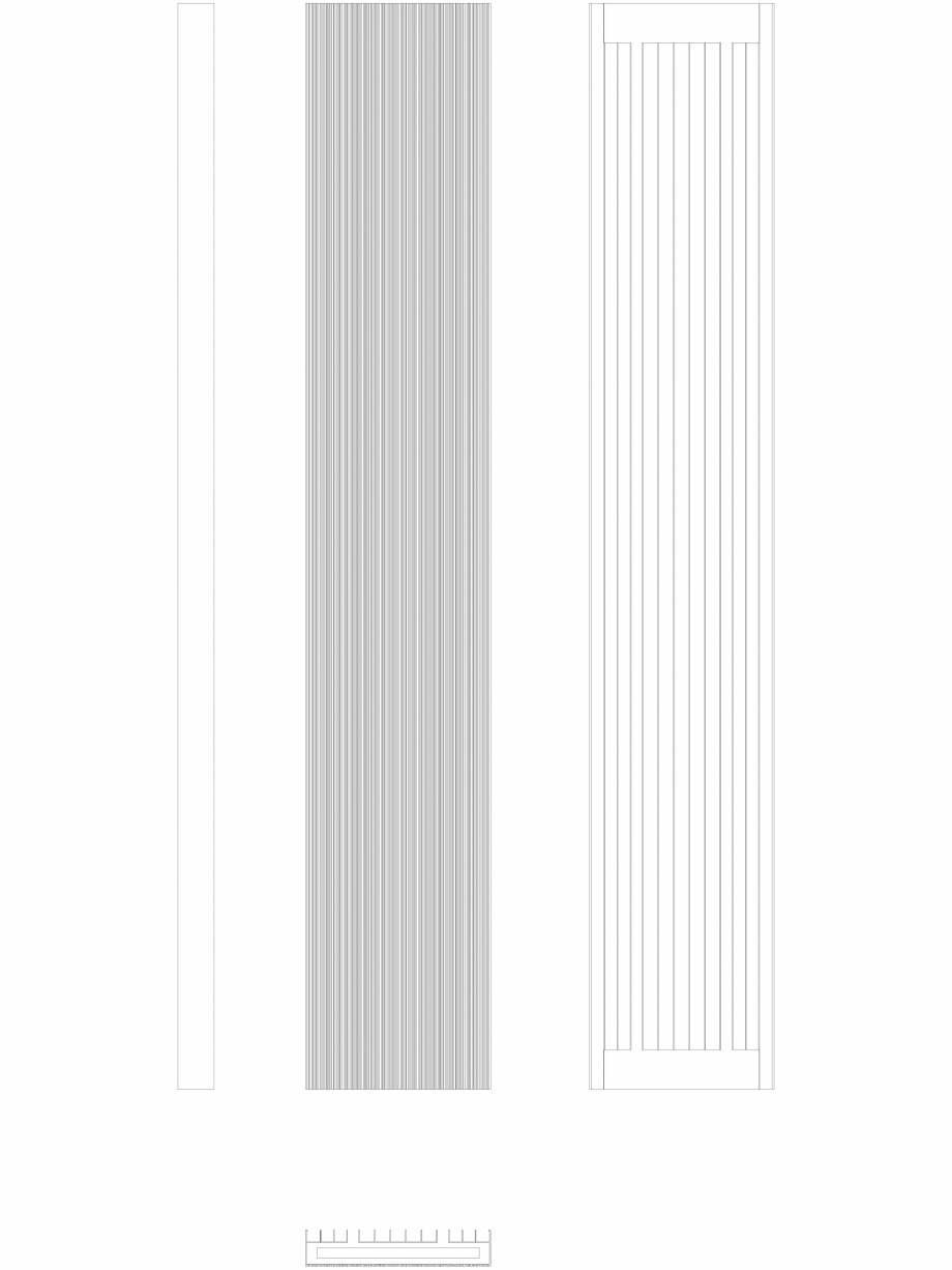Pagina 1 - CAD-DWG Calorifer decorativ BRYCE PLUS 2200x375 - 2D VASCO Detaliu de produs BRYCE...