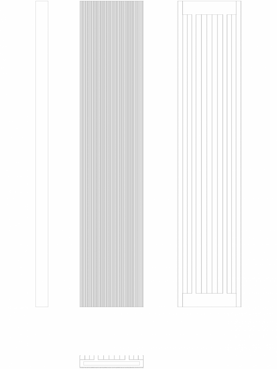 Pagina 1 - CAD-DWG Calorifer decorativ BRYCE PLUS 1800x375 - 2D VASCO Detaliu de produs BRYCE...