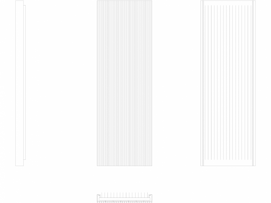 Pagina 1 - CAD-DWG Calorifer decorativ CANYON 1600x530 - 2D VASCO Detaliu de produs