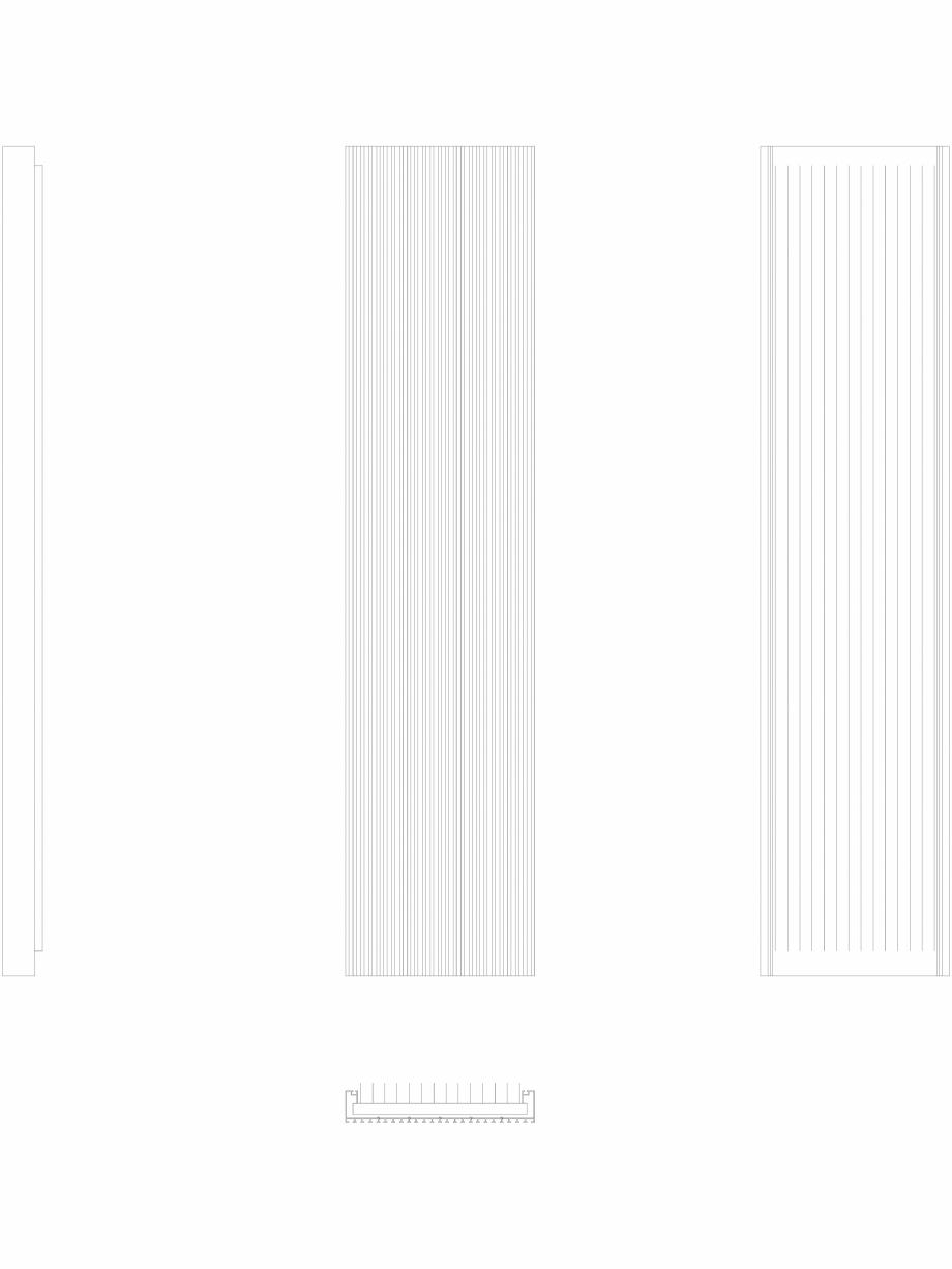 Pagina 1 - CAD-DWG Calorifer decorativ CANYON 2000x455 - 2D VASCO Detaliu de produs
