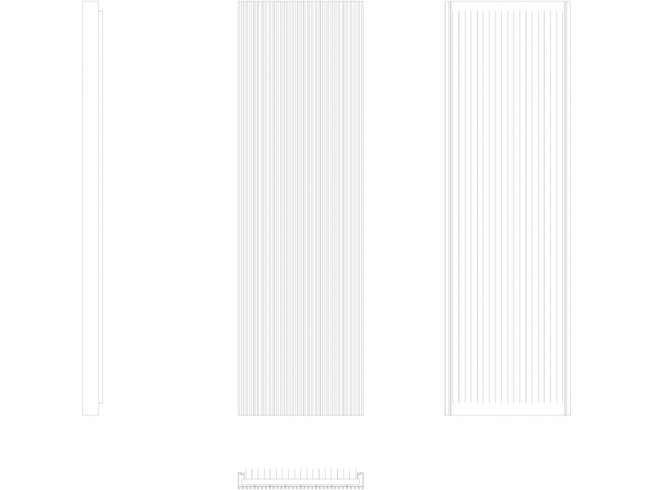 Pagina 1 - CAD-DWG Calorifer decorativ CANYON 2000x605 - 2D VASCO Detaliu de produs