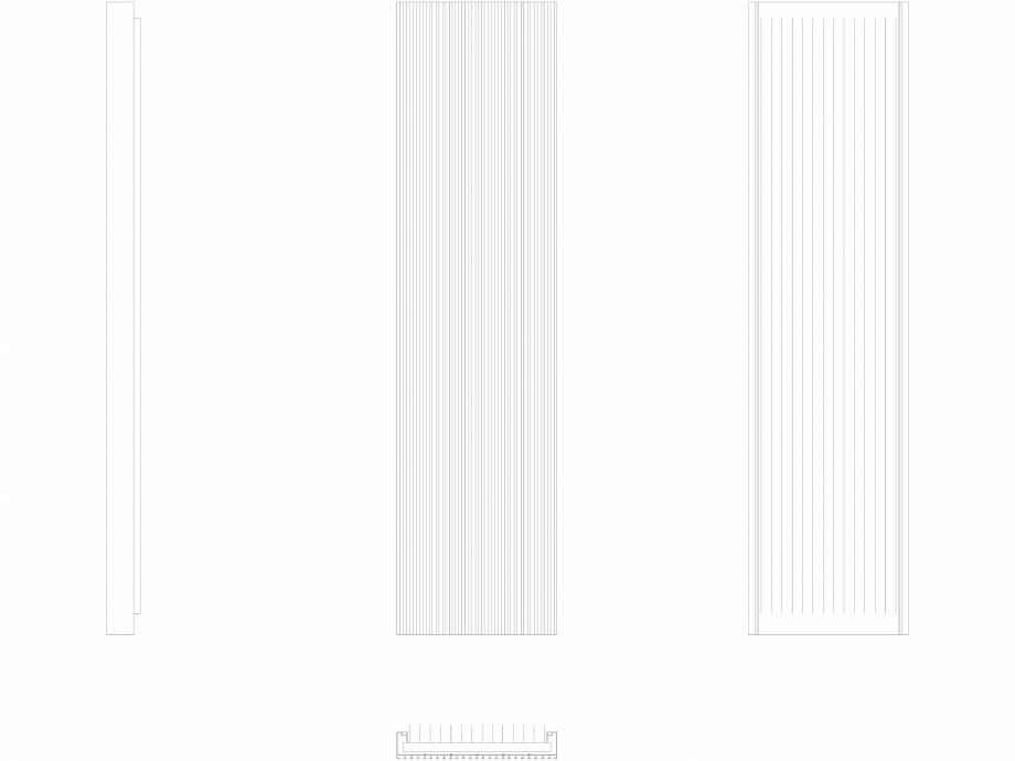 Pagina 1 - CAD-DWG Calorifer decorativ CANYON 1800x455 - 2D VASCO Detaliu de produs