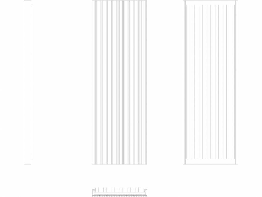 Pagina 1 - CAD-DWG Calorifer decorativ CANYON 1800x605 - 2D VASCO Detaliu de produs