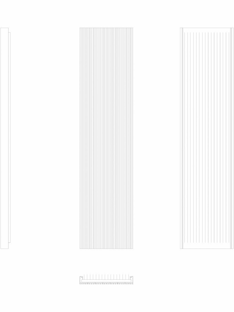 Pagina 1 - CAD-DWG Calorifer decorativ CANYON 2200x530 - 2D VASCO Detaliu de produs