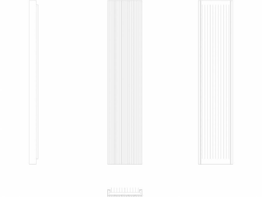 Pagina 1 - CAD-DWG Calorifer decorativ CANYON 1800x380 - 2D VASCO Detaliu de produs