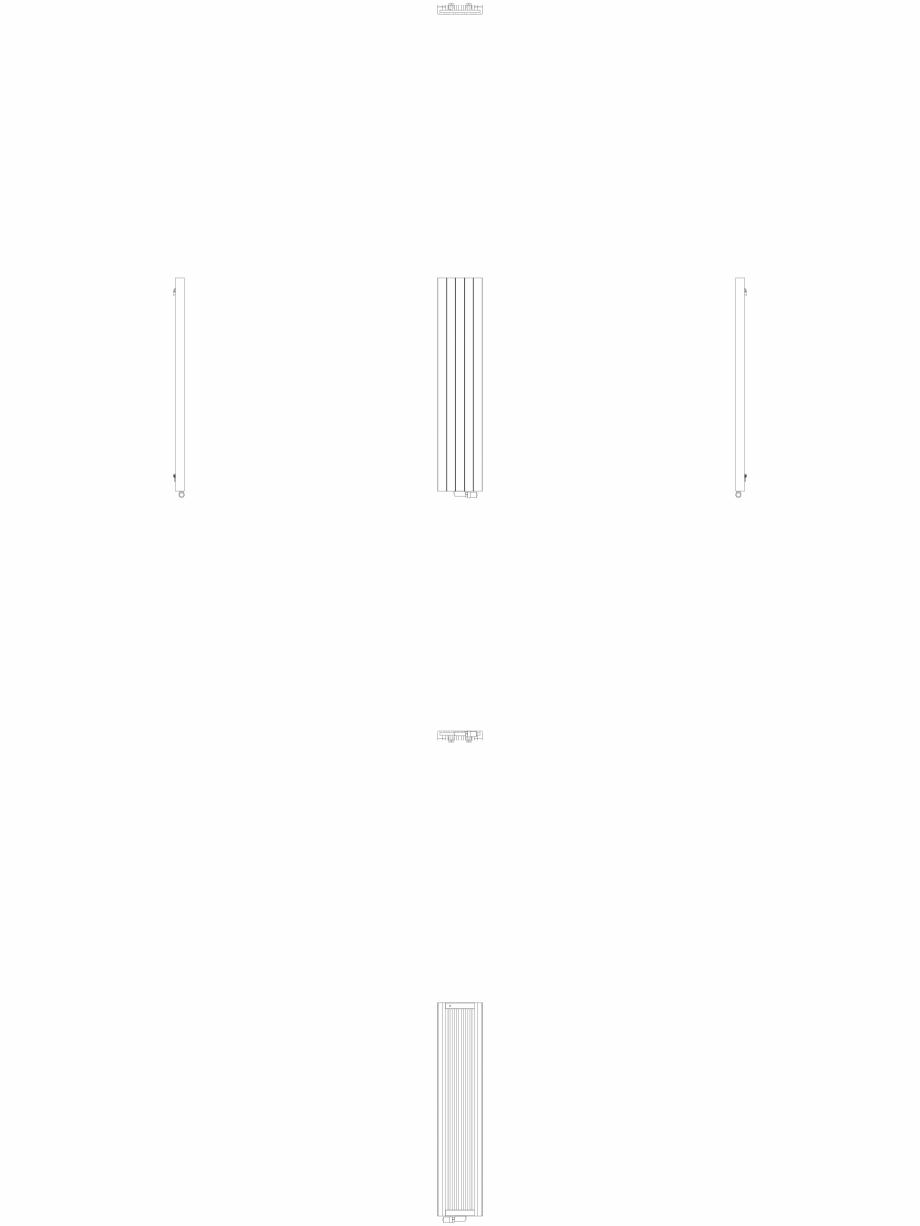 Pagina 1 - CAD-DWG Calorifer decorativ ZAROS V75 1600x375 - 2D VASCO Detaliu de produs ZAROS V75/...