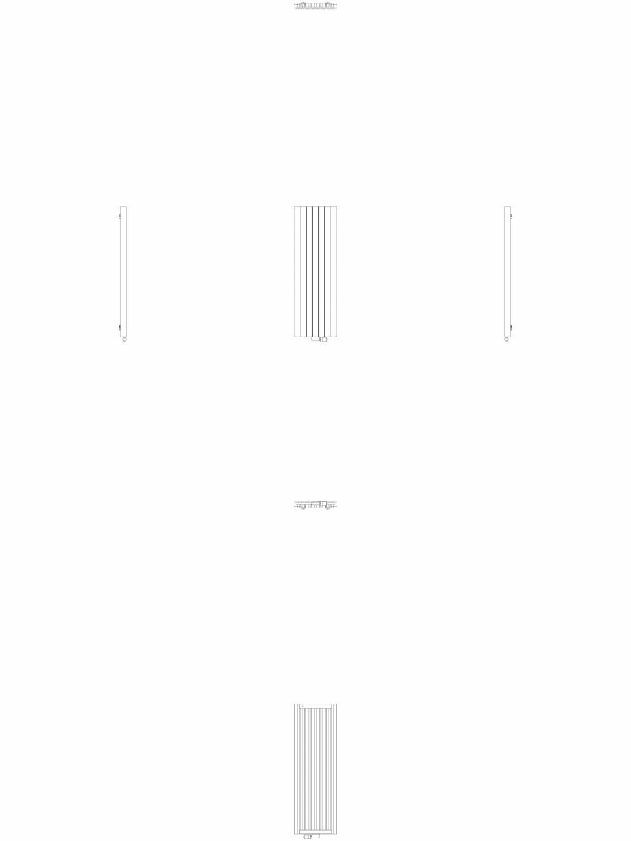 Pagina 1 - CAD-DWG Calorifer decorativ ZAROS V75 1600x525 2D VASCO Detaliu de produs ZAROS V75/ V100...