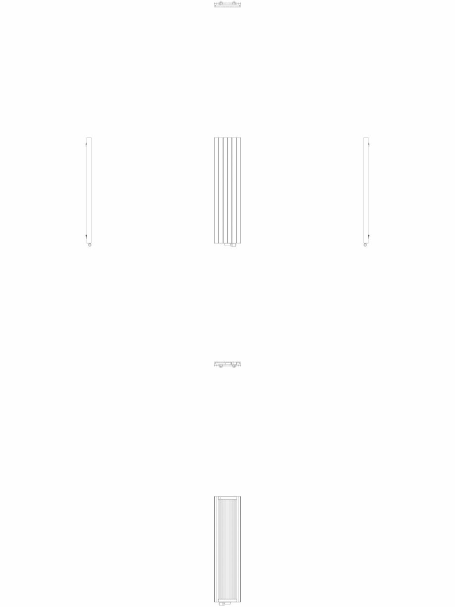 Pagina 1 - CAD-DWG Calorifer decorativ ZAROS V75 1800x450 - 2D VASCO Detaliu de produs ZAROS V75/...