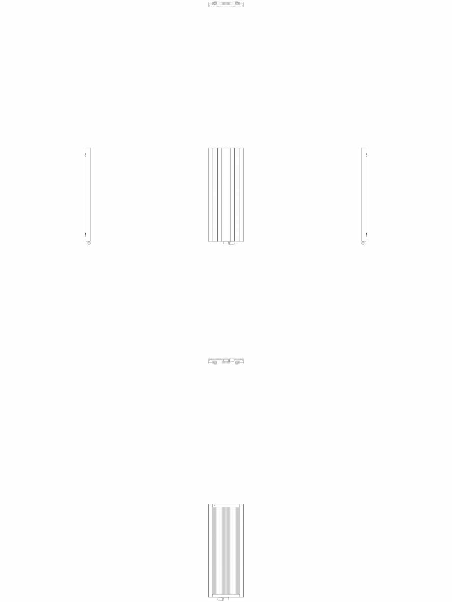 Pagina 1 - CAD-DWG Calorifer decorativ ZAROS V75 1600x600 - 2D VASCO Detaliu de produs ZAROS V75/...