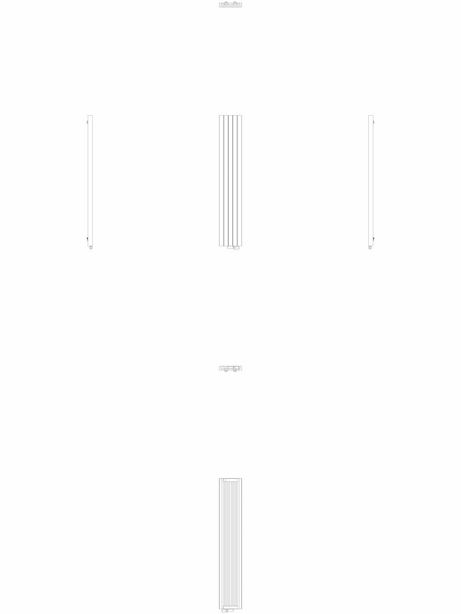 Pagina 1 - CAD-DWG Calorifer decorativ ZAROS V75 2000x375 2D VASCO Detaliu de produs ZAROS V75/ V100...