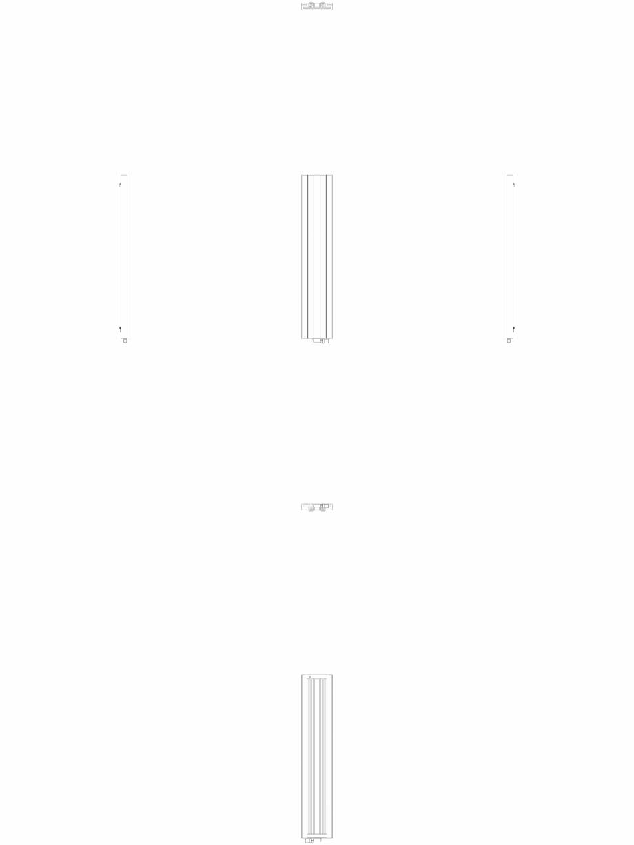 Pagina 1 - CAD-DWG Calorifer decorativ ZAROS V75 1800x375 - 2D VASCO Detaliu de produs ZAROS V75/...