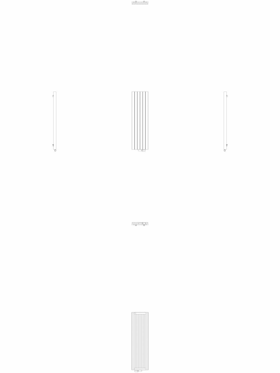 Pagina 1 - CAD-DWG Calorifer decorativ ZAROS V75 1600x450 - 2D VASCO Detaliu de produs ZAROS V75/...