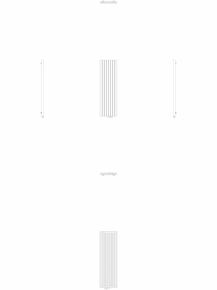 Pagina 1 - CAD-DWG Calorifer decorativ ZAROS V75 2000x600 - 2D VASCO Detaliu de produs ZAROS V75/...