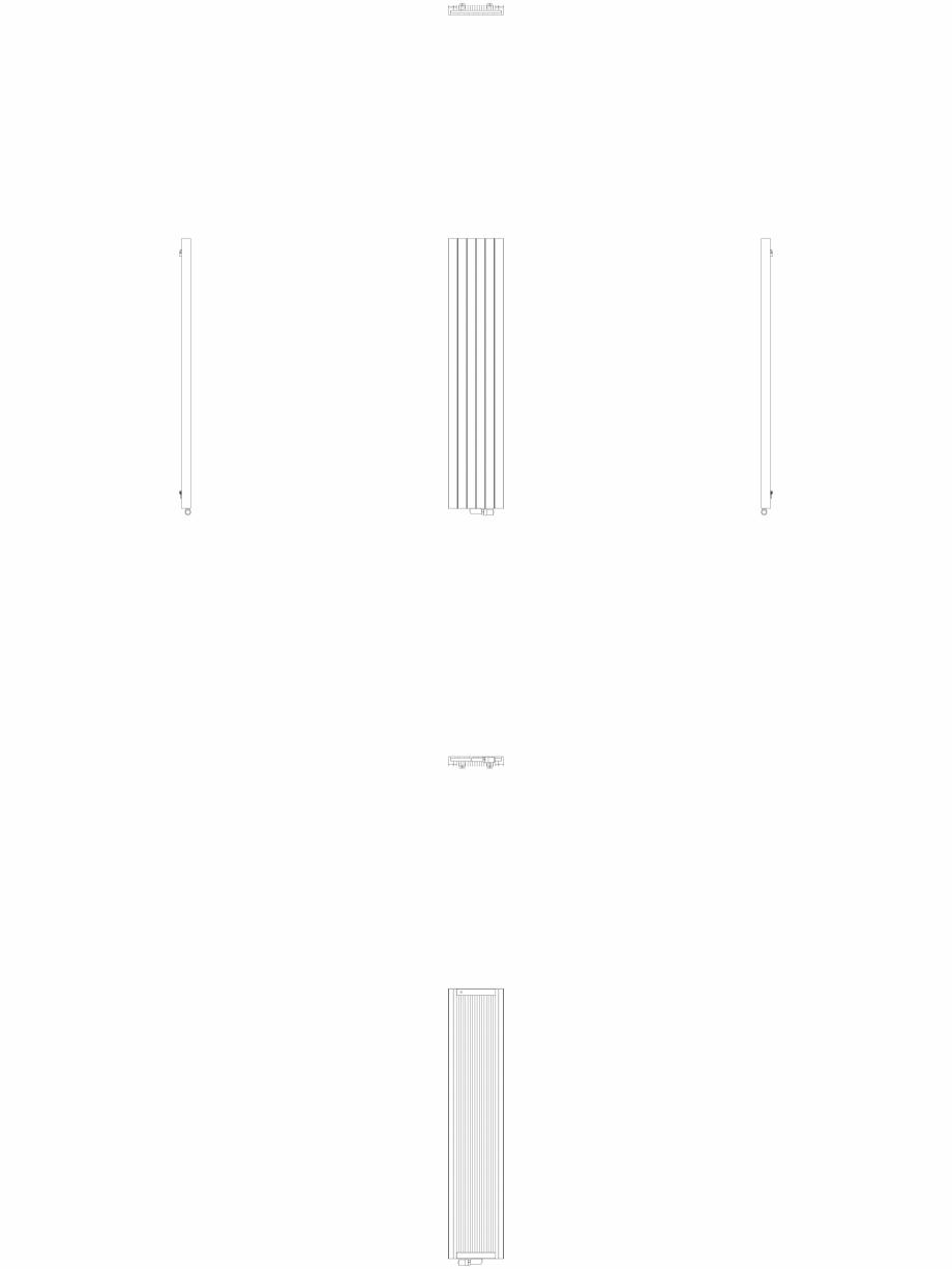 Pagina 1 - CAD-DWG Calorifer decorativ ZAROS V75 2200x450 - 2D VASCO Detaliu de produs ZAROS V75/...