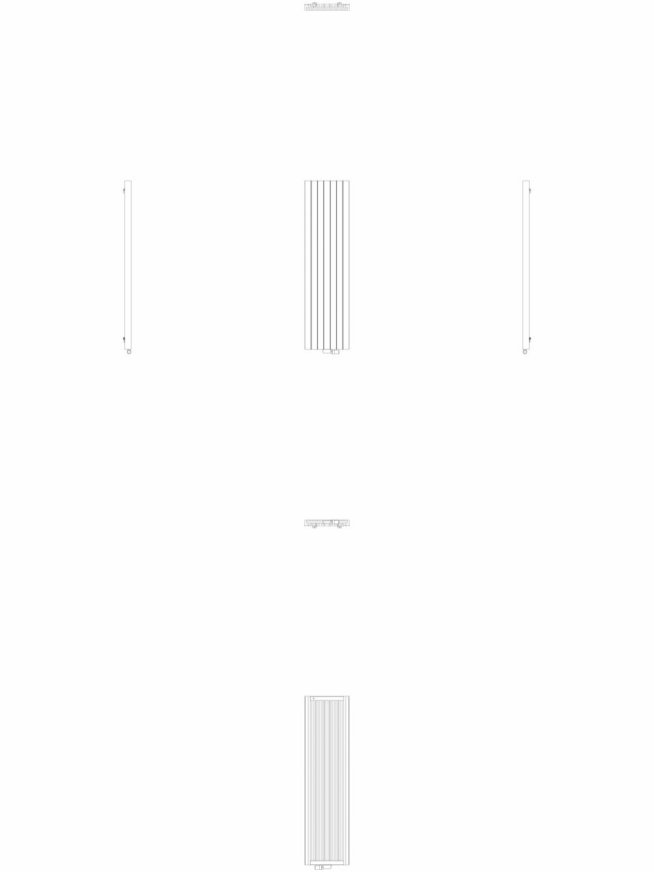 Pagina 1 - CAD-DWG Calorifer decorativ ZAROS V75 2000x525 - 2D VASCO Detaliu de produs ZAROS V75/...
