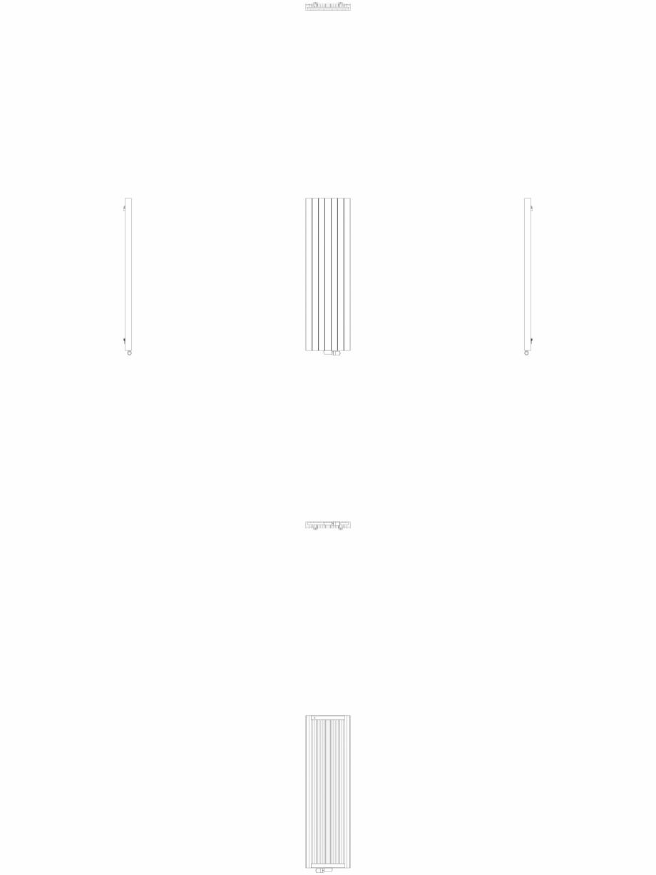 Pagina 1 - CAD-DWG Calorifer decorativ ZAROS V75 1800x525 - 2D VASCO Detaliu de produs ZAROS V75/...