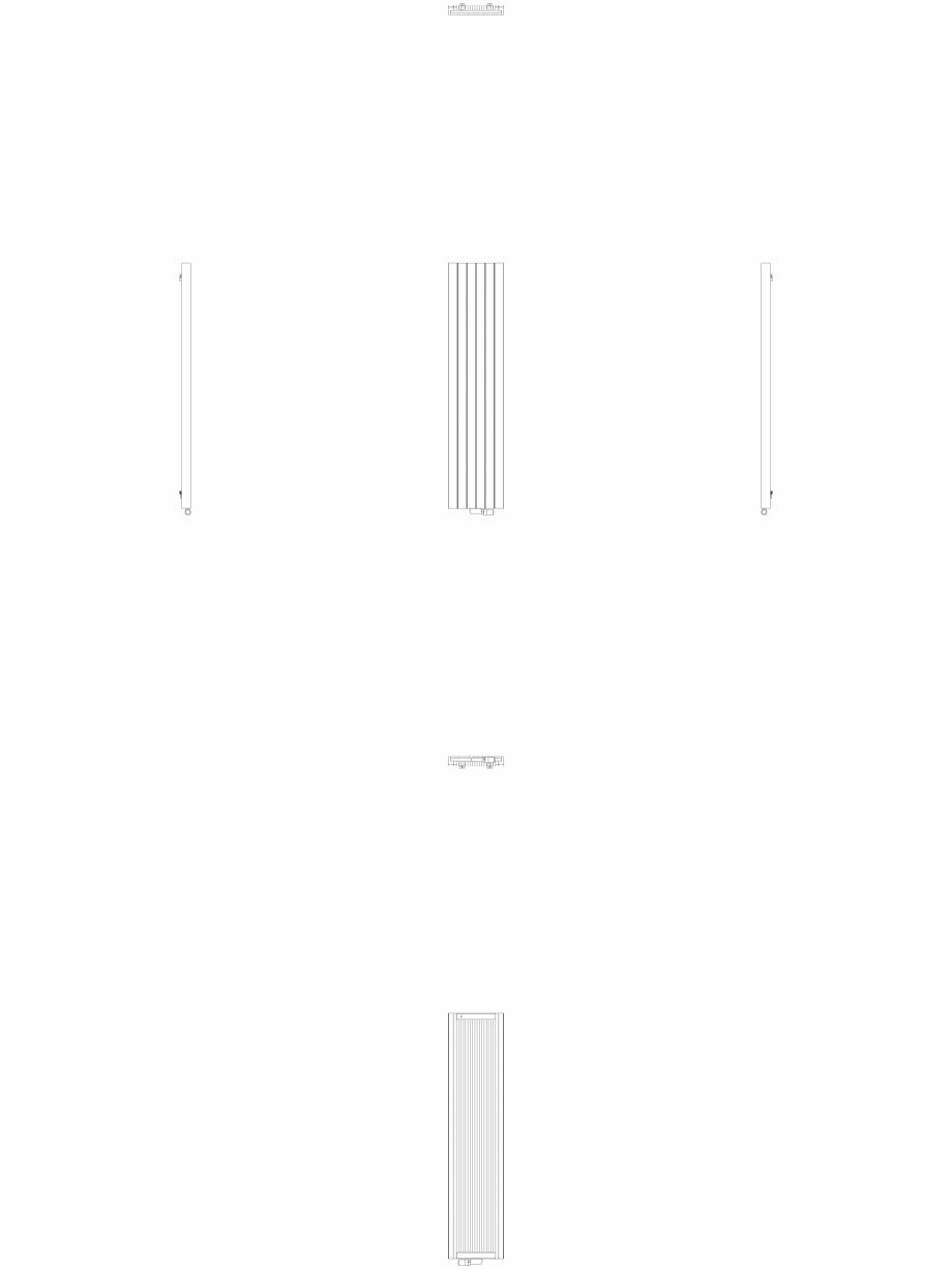 Pagina 1 - CAD-DWG Calorifer decorativ ZAROS V75 2000x450 - 2D VASCO Detaliu de produs ZAROS V75/...