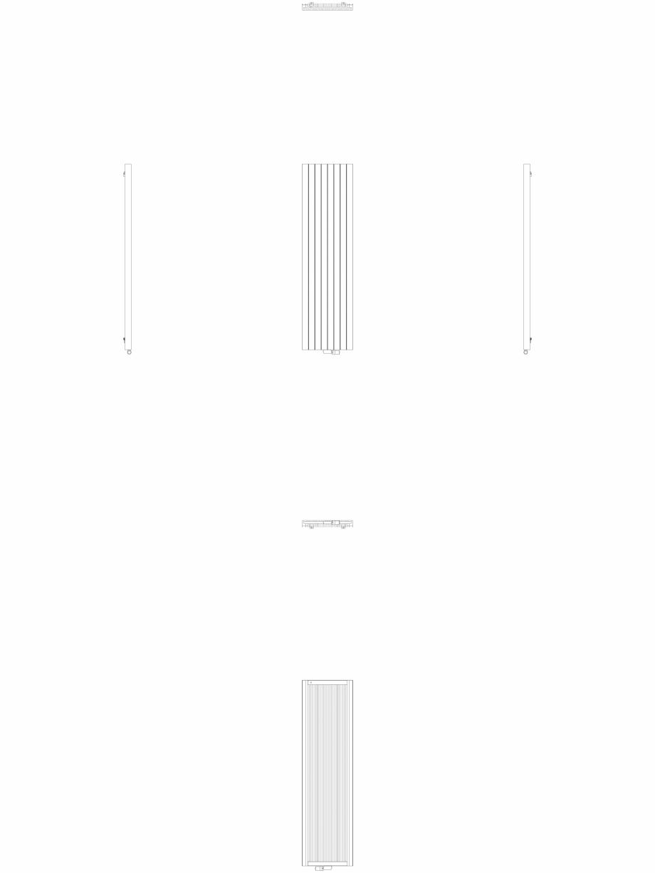 Pagina 1 - CAD-DWG Calorifer decorativ ZAROS V75 2200x600 - 2D VASCO Detaliu de produs ZAROS V75/...