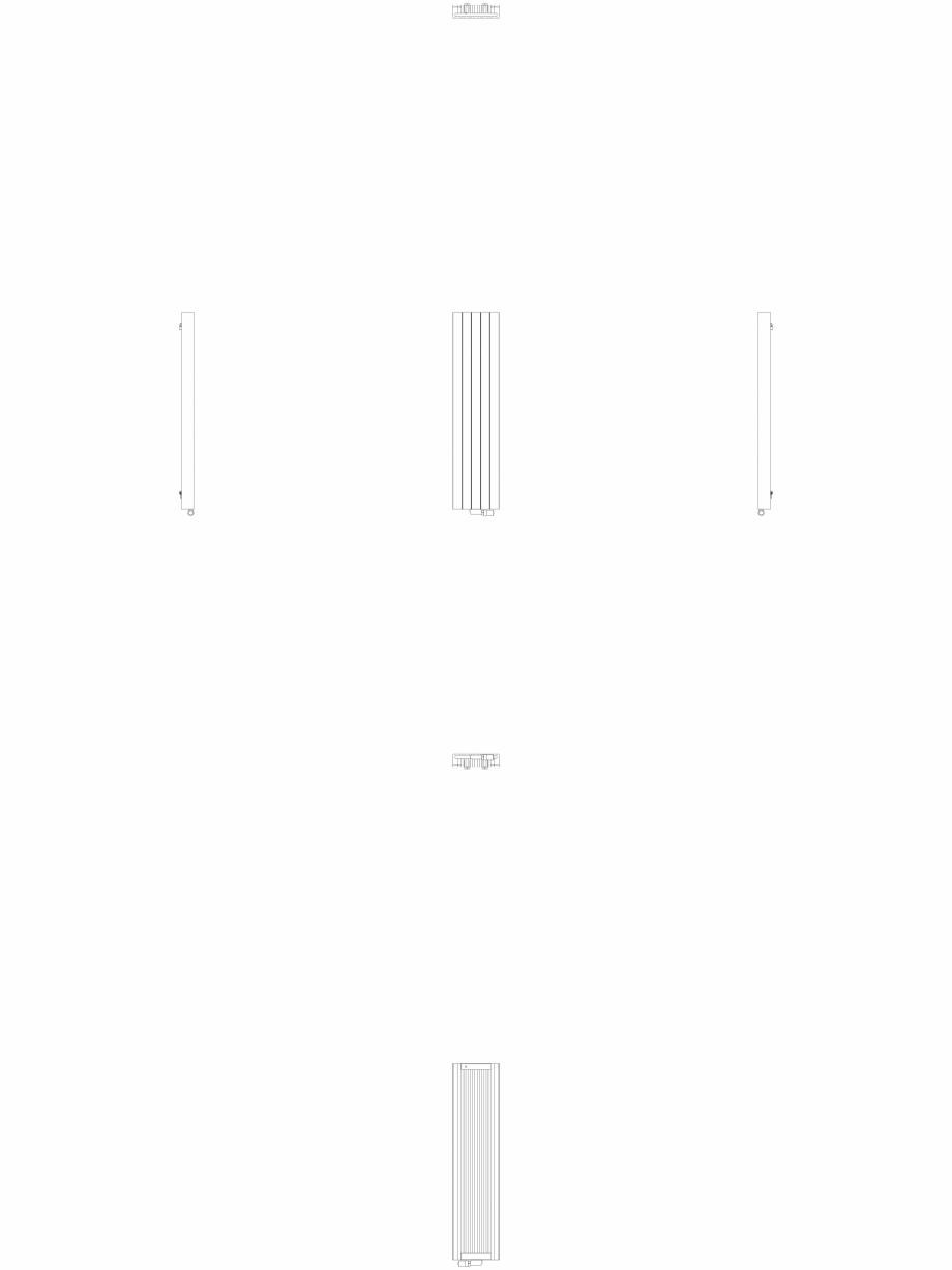 Pagina 1 - CAD-DWG Calorifer decorativ ZAROS V100 1600x375 - 2D VASCO Detaliu de produs ZAROS V75/...