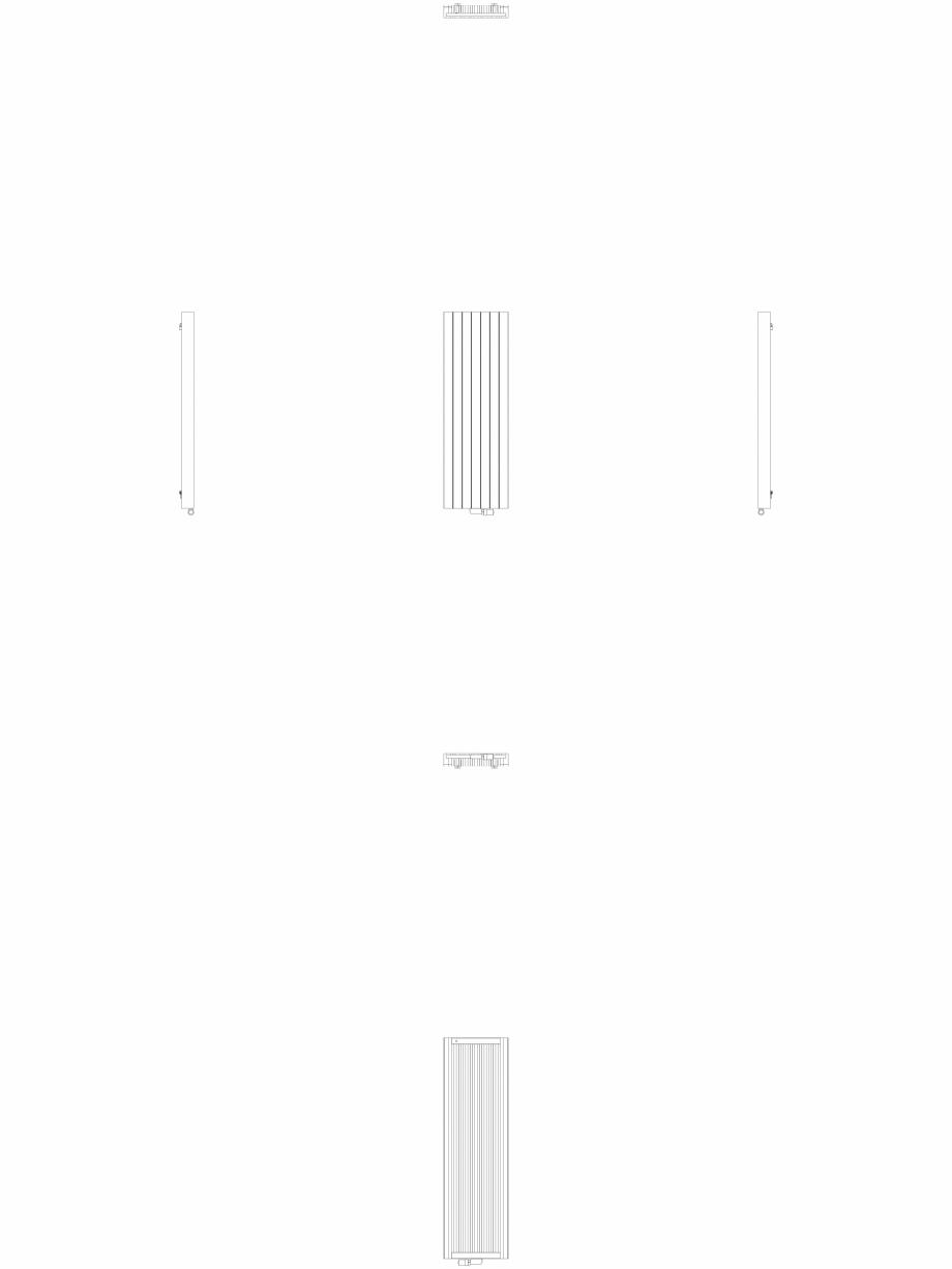 Pagina 1 - CAD-DWG Calorifer decorativ ZAROS V100 1600x525 - 2D VASCO Detaliu de produs ZAROS V75/...