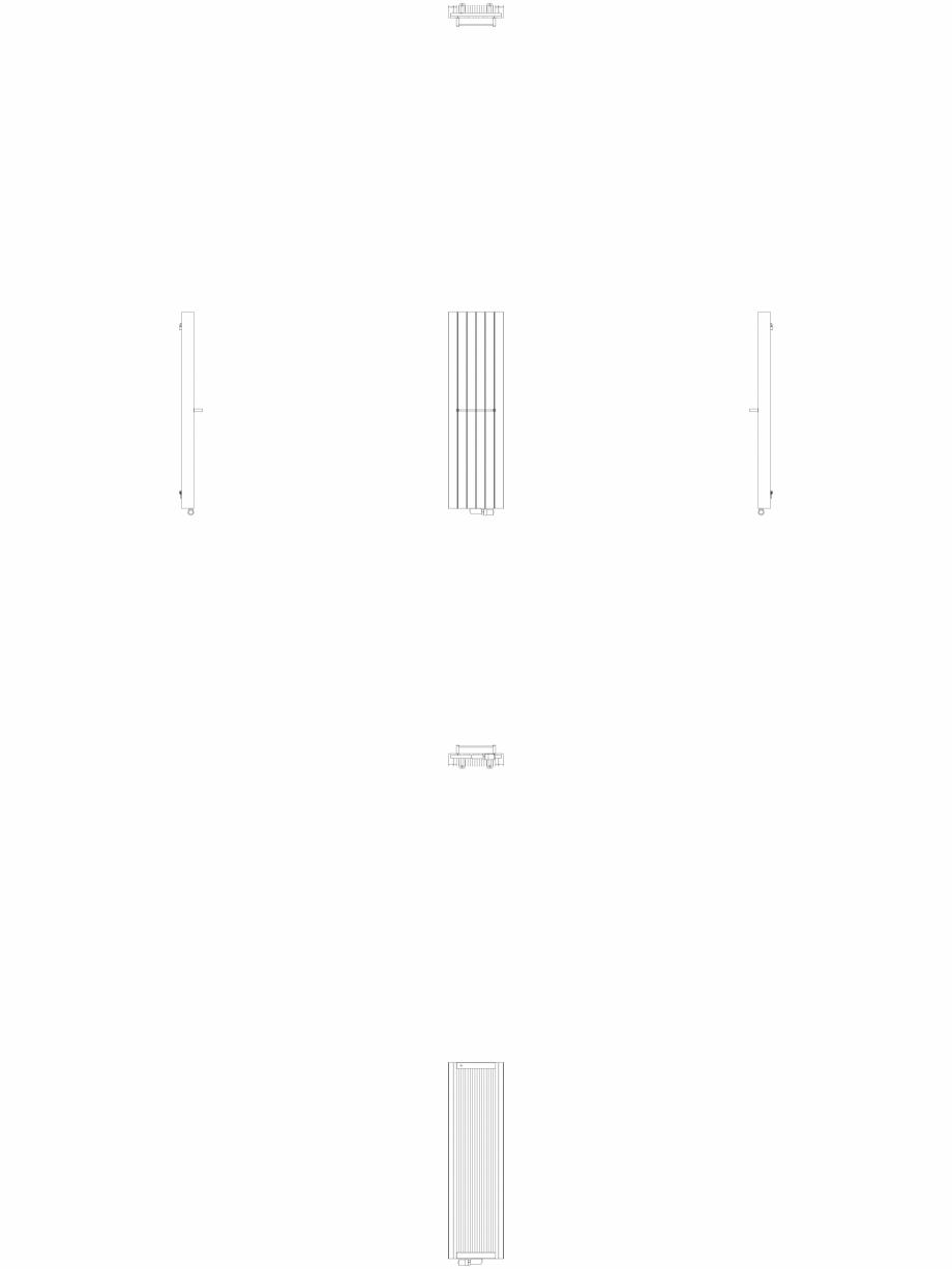 Pagina 1 - CAD-DWG Calorifer decorativ ZAROS V100 1600x450 - 2D VASCO Detaliu de produs ZAROS V75/...