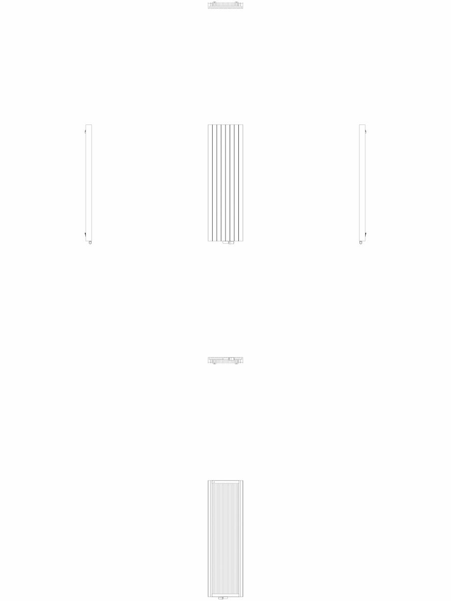 Pagina 1 - CAD-DWG Calorifer decorativ ZAROS V100 2000x600 - 2D VASCO Detaliu de produs ZAROS V75/...