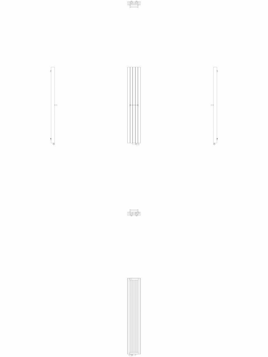 Pagina 1 - CAD-DWG Calorifer decorativ ZAROS V100 2200x375 - 2D VASCO Detaliu de produs ZAROS V75/...