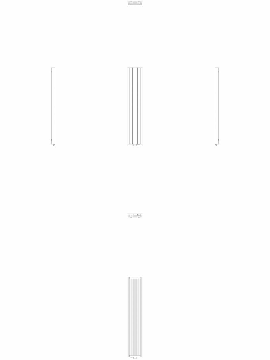 Pagina 1 - CAD-DWG Calorifer decorativ ZAROS V100  2200x450 - 2D VASCO Detaliu de produs ZAROS V75/ ...