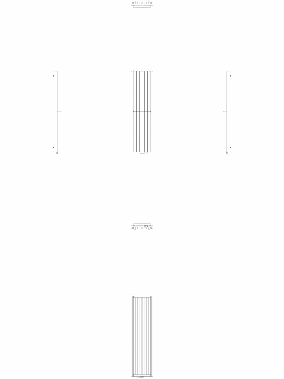 Pagina 1 - CAD-DWG Calorifer decorativ ZAROS V100 2200x600 - 2D VASCO Detaliu de produs ZAROS V75/...