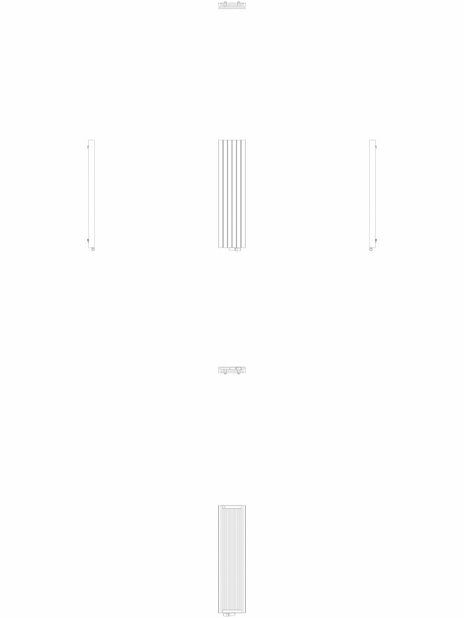 Pagina 1 - CAD-DWG Calorifer decorativ ZAROS V100 1800x450 - 2D VASCO Detaliu de produs ZAROS V75/...