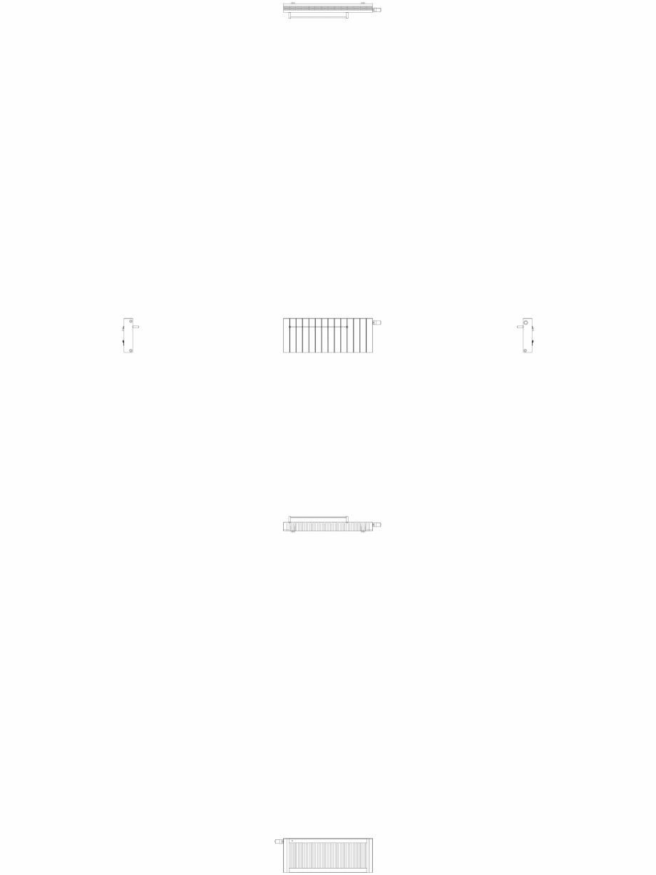 Pagina 1 - CAD-DWG Calorifer decorativ ZAROS H100 400x1050 - 2D VASCO Detaliu de produs